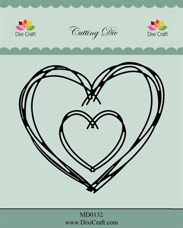 Happymade - Dixi Craft - Die - MD0132 - Heart sketch